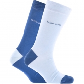 Product Image for BOSS HUGO BOSS Two Pack Socks Blue